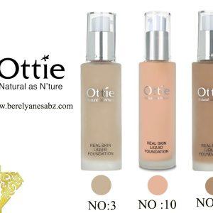 کرم پودر رئال اسکین مایع اوتی Ottie Real Skin Liquid Foundation