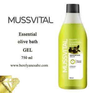 ژل شستشوی بدن زیتون موسویتال MUSSVITAL Essential olive bath